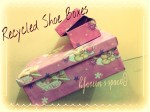 Re-purposed Shoe Boxes!