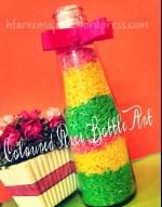 Coloured Rice Bottle Art