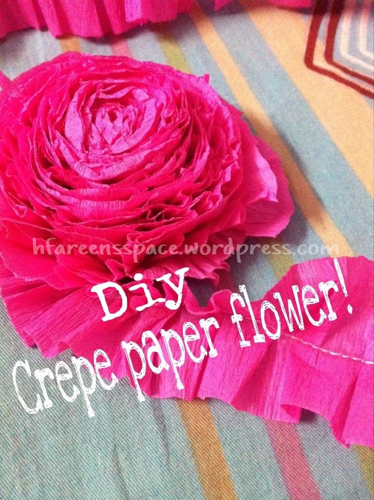 Crepe Paper Flower!