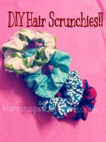Hair Scrunchies tutorial!!