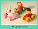 Vividha Mini Pull Toys {Giveaway}