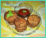 Mixed Lentil Patties Recipe