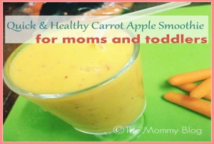 Quick & Healthy Carrot Apple Smoothie Recipe For Moms And Toddlers | Healthy Breakfast Ideas