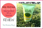 Baby Biotique Baby Sun Block SPF 20 UVA/UVB Sunscreen Review