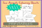 Montessori Inspired FREE Sea Animals Printable Colouring Sheets For Toddlers & Preschooler