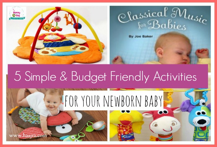 Simple Activities To Help Your Baby Enjoy The Newborn Stage on a budget