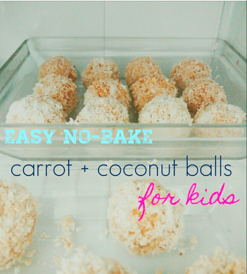 easy no bake carrot coconut balls for kid