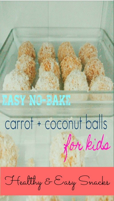 healthy easy no bake carrot coconut balls for kids pinterest