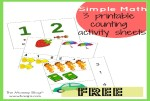 3 Simple Math Printable Counting Activity Sheets