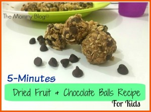 5 Minutes Dried Fruit & Chocolate Balls Recipe For kids | Healthy Breakfast Ideas