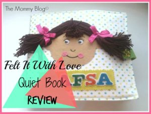 Felt It By Love Handmade Quiet Book Review