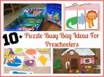 10+ Fun & Easy Puzzle Busy Bag Ideas For Preschoolers