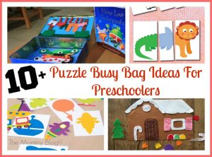 10+ Fun & Easy Puzzle Busy Bag Ideas For Preschoolers