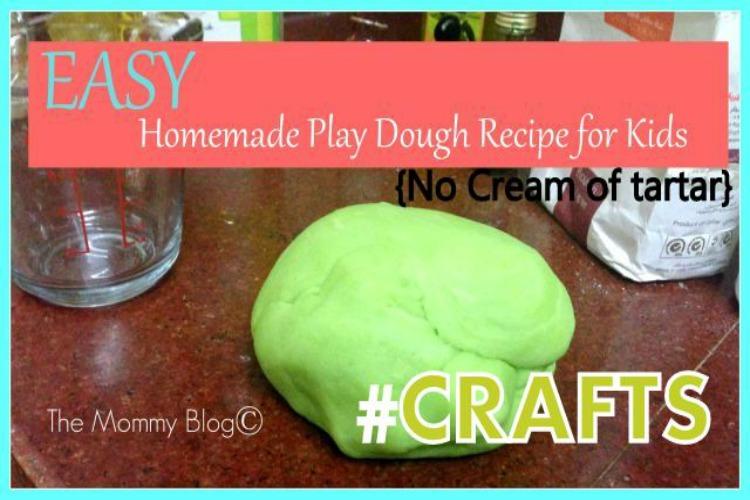 homemade easy playdough no cream of tartar