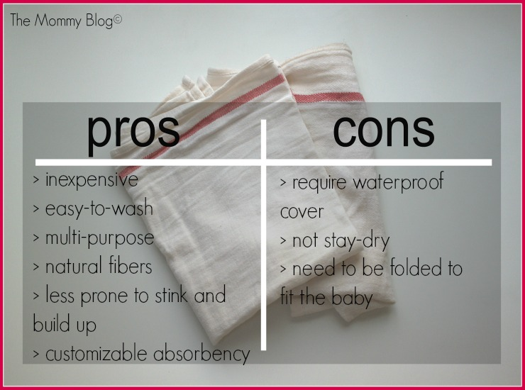 flat diapers pros cons