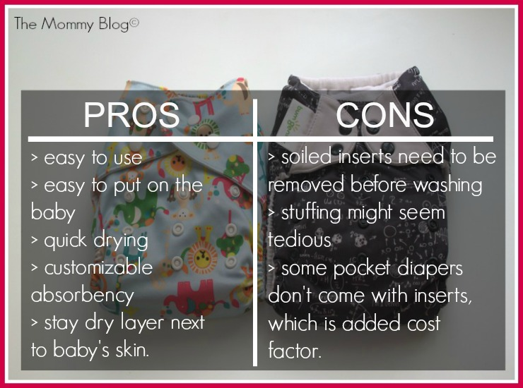 pocket diaper pros and cons