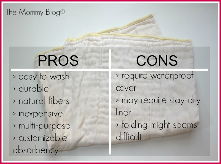 prefold diapers pros and cons