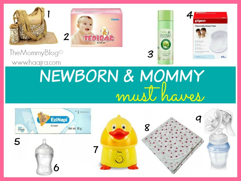 newborn mommy must haves list