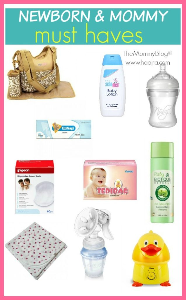 newborn mommy must haves list india