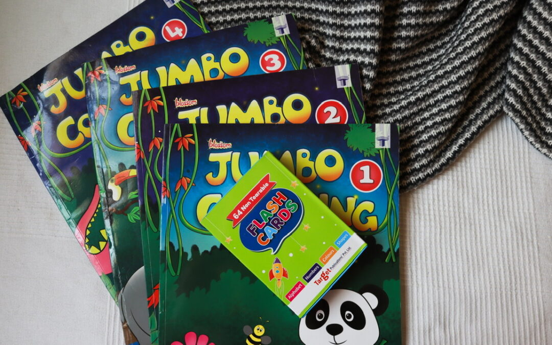 Jumbo Colouring Book and Flash Cards Review